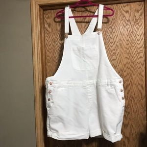 Plus size jeans shorts  overalls